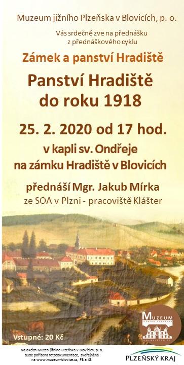 Panství Hradiště do roku 1918 1